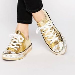 Converse All Star Metallic Gold Sneakers